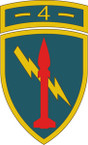 STICKER US ARMY UNIT 4th US Army Missile Command SHIELD