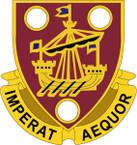 STICKER US ARMY UNIT 483 Transportation Battalion CREST