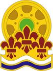 STICKER US ARMY UNIT 470 Transportation Battalion CREST
