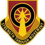 STICKER US ARMY UNIT 450 Transportation Battalion CREST