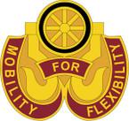 STICKER US ARMY UNIT 436 Transportation Battalion CREST
