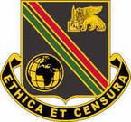 STICKER US ARMY UNIT 414th Support Brigade Crest