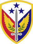 STICKER US ARMY UNIT 412th Support Brigade SHIELD