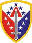 STICKER US ARMY UNIT 410th Support Brigade SHIELD