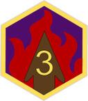 STICKER US ARMY UNIT 3rd Chemical Brigade COL