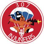 STICKER US ARMY UNIT 307th Airborne Engineer Battalion SHIELD
