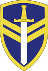STICKER US ARMY UNIT 2nd Support Command SHIELD