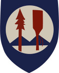 STICKER US ARMY UNIT 299th Regimental Combat Team SHIELD