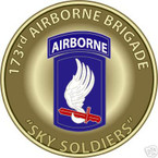 STICKER US ARMY UNIT 173RD AIRBORNE BRIGADE