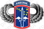 STICKER US ARMY UNIT 172ND AIRBORME WINGS