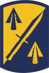 STICKER US ARMY UNIT 158 Infantry Brigade SHIELD