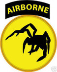 STICKER US ARMY UNIT 135th Airborne Div. SHIELD COL