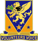 STICKER US ARMY UNIT 107th Aviation Regiment