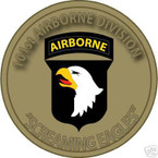 STICKER US ARMY UNIT 101ST AIRBORNE DIVISION