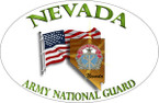 STICKER US ARMY UNIT  Nevada with Flag - Army National Guard
