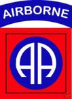 STICKER US ARMY UNIT  82ND AIRBORNE DIV SHIELD COL