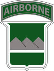 STICKER US ARMY UNIT  80th Infantry Airborne TAB