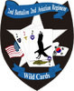 STICKER US ARMY UNIT  2nd Aviation Regiment