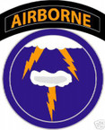STICKER US ARMY UNIT  21th Airborne Div. SHIELD COL