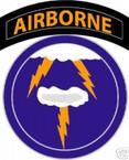 STICKER US ARMY UNIT  21th Airborne Div. SHIELD COL