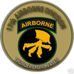 STICKER US ARMY UNIT  17TH AIRBORNE DIVISION