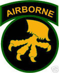 STICKER US ARMY UNIT  17th Airborne Div. SHIELD COL