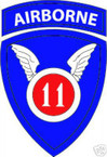 STICKER US ARMY UNIT  11th Airborne Div. SHIELD COL