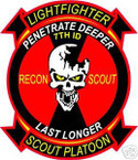 STICKER US ARMY UNIT   7TH INFANTRY RECON SCOUT PLT