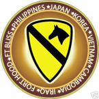 STICKER US ARMY UNIT   1ST CAVALRY DIVISION SHIELD