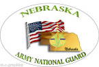 STICKER US Army National Guard Nebraska with Flag