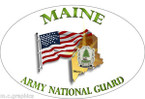 STICKER US Army National Guard Maine with Flag