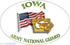 STICKER US Army National Guard Iowa with Flag