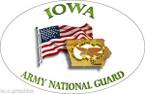 STICKER US Army National Guard Iowa with Flag