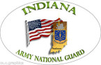 STICKER US Army National Guard Indiana with Flag