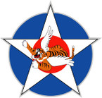 STICKER US ARMY AIR FORCE Flying Tiger Star