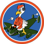 STICKER US ARMY AIR FORCE  701st Bomb Squadron - 445th  Bomb Group - 8th Air Force