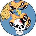 STICKER US ARMY AIR FORCE  351st Fighter Squadron - 353rd Fighter Group - 8 Air Force