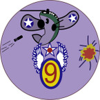 STICKER US ARMY AIR CORPS 9th AF Glider Command