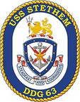 STICKER U.S. Navy USS Stethem DDG 63 Destroyer Emblem Crest