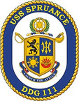 STICKER U.S. Navy USS Spruance DDG 111 Destroyer Emblem Crest