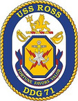 STICKER U.S. Navy USS Ross DDG 71 Destroyer Emblem Crest