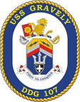 STICKER U.S. Navy USS Gravely DDG 107 Destroyer Emblem Crest