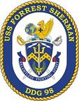 STICKER U.S. Navy USS Forrest Sherman DDG 98 Destroyer Emblem Crest