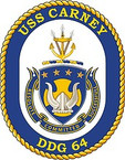 STICKER U.S. Navy USS Carney DDG 64 Destroyer Emblem Crest