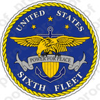 STICKER U.S. Navy 6th Fleet Emblem