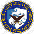 STICKER U.S. Naval Forces Europe Emblem of Commander in Chief