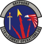 STICKER USAF 710th Combat Operations Squadron Emblem