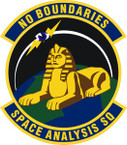 STICKER USAF Space Analysis Squadron Emblem