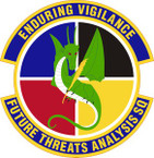 STICKER USAF Future Threats Analysis Squadron Emblem