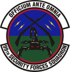 STICKER USAF 99th Security Forces Squadron Emblem